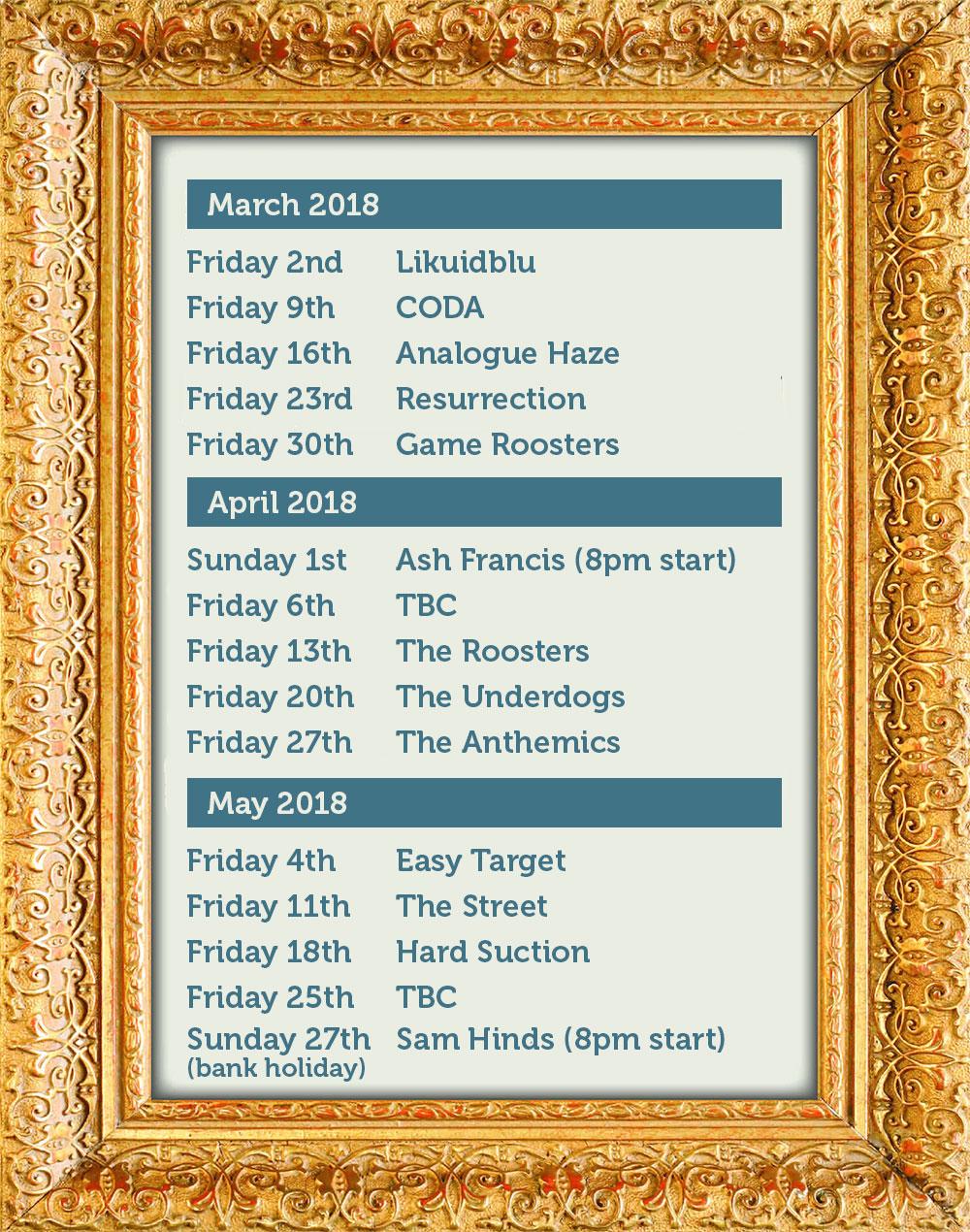 Band Dates