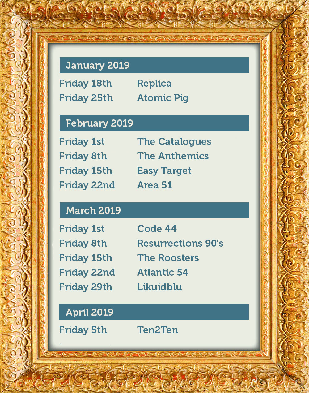 White Horse Quorn Band Dates