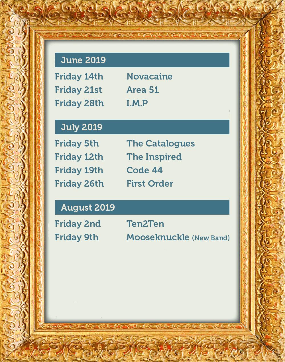 White Horse Band Dates