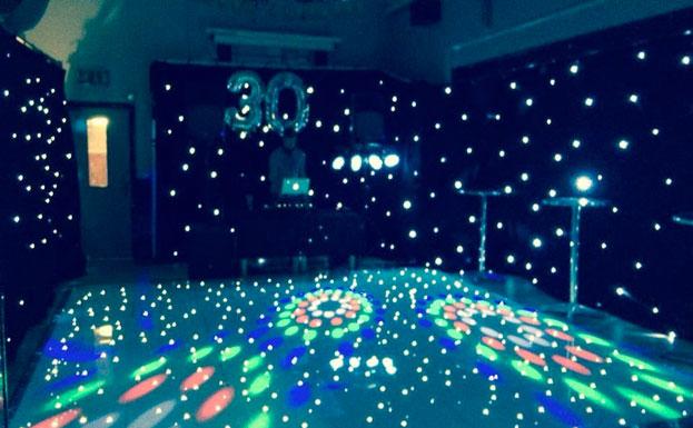 function room disco lights